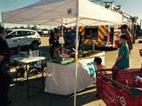 BTU at the National Night Out Kick Off Event demonstrating electric safety with PowerTown