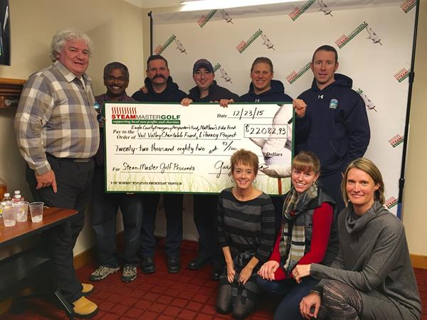 SteamMaster Golf Tournament raised $22,00 for local charity.