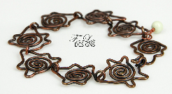 """Star Leaf"" Antique Copper Bracelet"