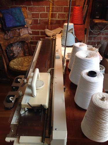 Knitting machine used for some of the sweaters and vests