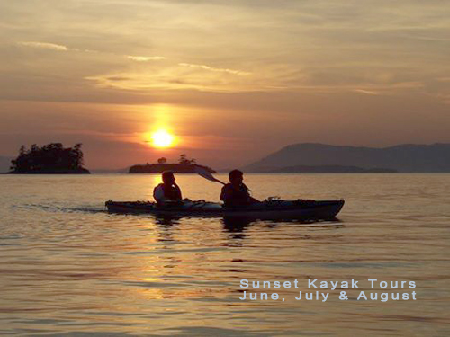 Sunset Kayak Tours June, July & August