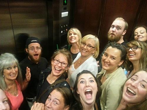 A field trip to the Starbucks Support Center in Seattle and elevator FUN!!
