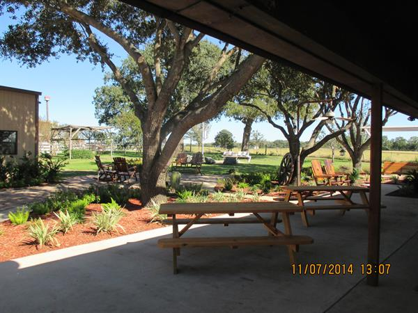 Patio areas for gatherings