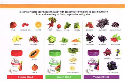 Juice Plus+® is 28 different Fruits, Berries & Vegetables - get a Large Variety of produce into your diet every daywith JP+ !