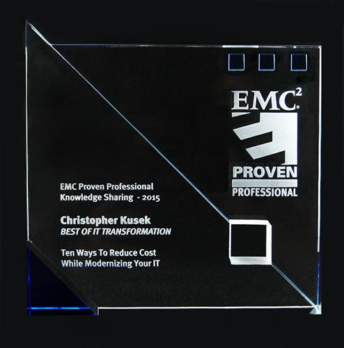 EMC Proven Professional Top Knowledge Sharing Award