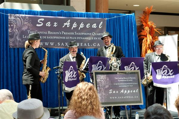 Sax Appeal performing at the Ottawa International Jazz Festival!