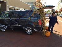 Participants in the annual Trunk or treat event in downtown Ionia