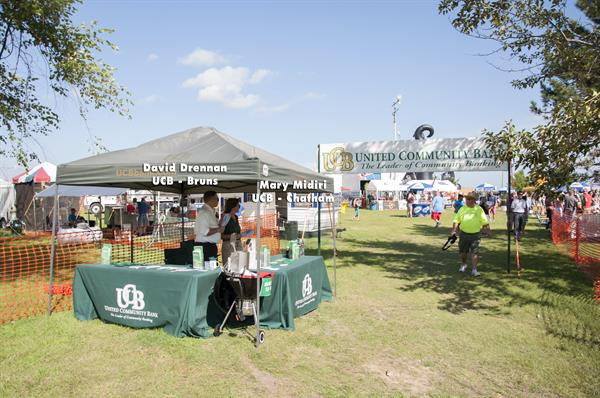 UCB's Booth at the Chatham Sweet Corn Festival