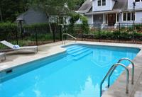 heated three season saltwater pool