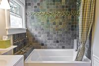 Bathroom with deep soaking tub