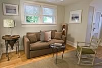 Living room with comfortable pull out couch