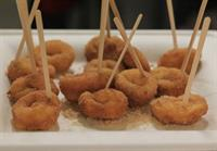 Our famous apple cider mini doughnuts.