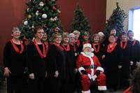 Santa and the choir.
