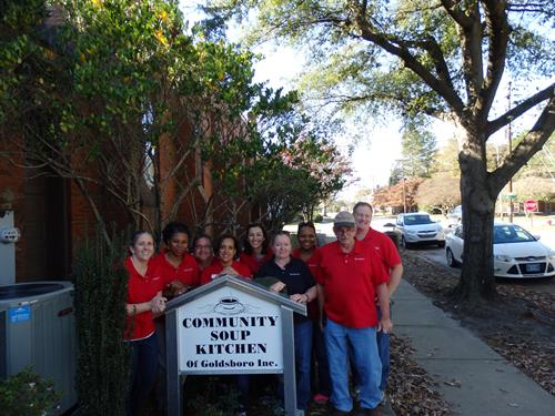 Our crew helped at the Goldsboro Soup Kitchen this year!