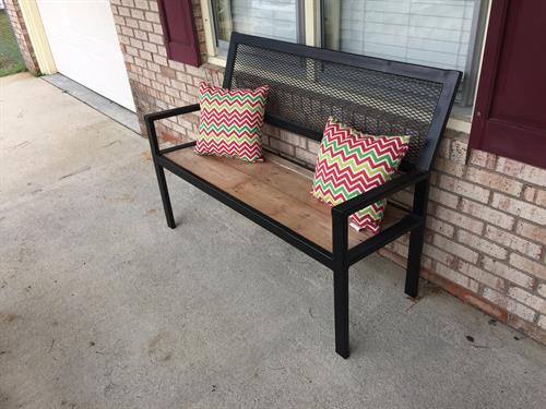 Porch bench we fabricated