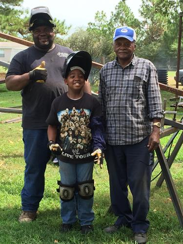 3 generations of welding me my dad and son