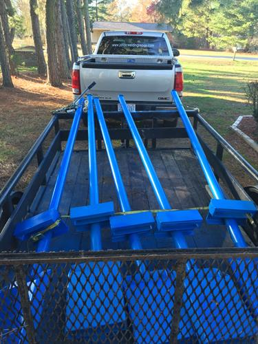 Fork lift attachment about to be delivered to a local manufacturing plant and fellow chamber member