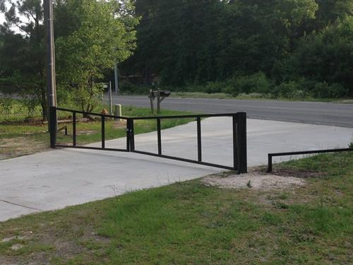 Church parking lot gates