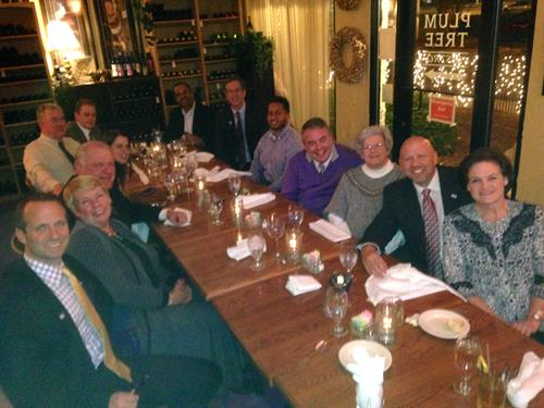 Dinner with H & R Block CEO and VP along with Franchisee's and Guest