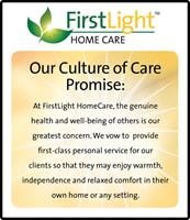 "The FirstLight HomeCare ""Culture of Care"" Promise."