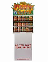 Little Diablo Salsa Grocer Display