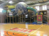 Four story play structure inside our full sized gym