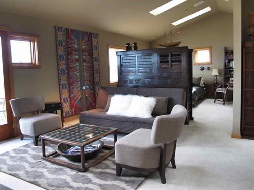 Living room looking towards bedroom