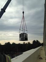 Seting a unit on roof