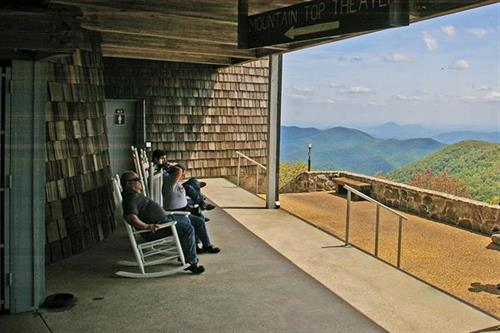 View from the visitor center-Brasstown Bald