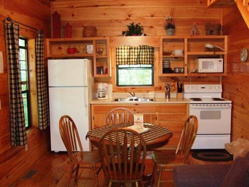 Kitchen at Dancing Creek cabin