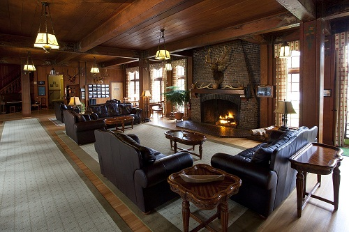 Cozy up to the fireplace with a good book, board game or a glass of wine.