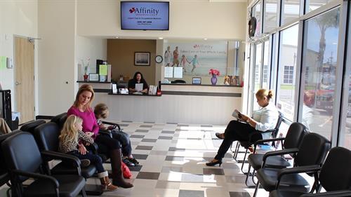 Comfortable waiting room.