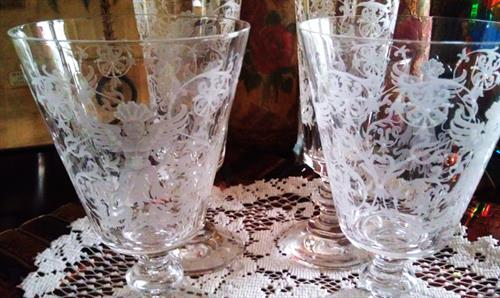 Florentine Etched Wine Glasses