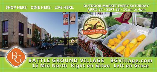 Road side billboard design for BG Village