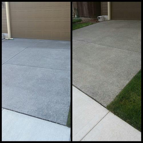 Driveway cleaning and seal coating. Transparent or decorative.