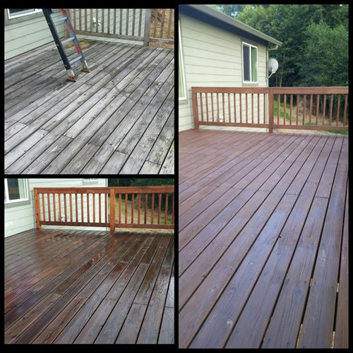 Deck cleaning and restoration