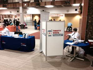 Flu shot clinic at employer health fair