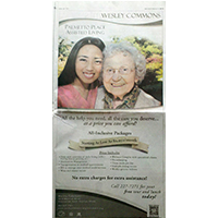 Full-page newspaper Ad for Wesley Commons