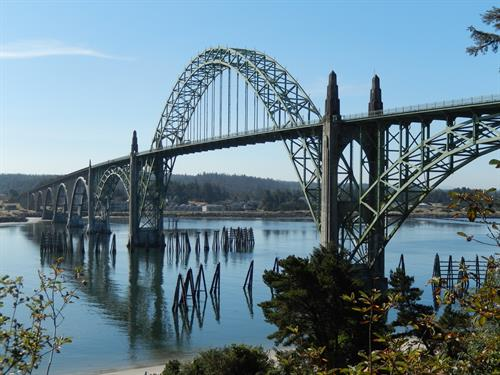 Yaquina Bay Bridge nearby