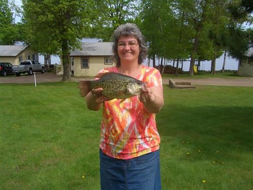 13 1/2 crappie from the dock