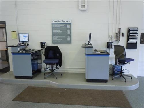 Service Writer Desk ~ Minnesota motor company auto dealership body shop