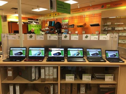 We have manufacturer warenteed laptops