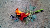 Orange Calla Lily Toss Bouquet
