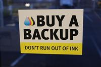 Buy a backup. Don't run out of ink.