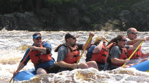Client Adventure:  Whitewater Rafting