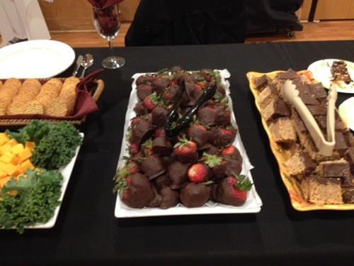Delicious samples from our recent Biz to Biz Event at the Friendly Buffalo.
