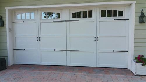 Add some hardware onto your new Overhead Door!