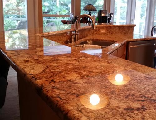 Beautiful Granite Sealed with HydroShield
