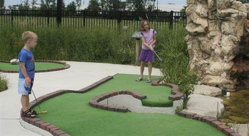 Mini golf at The Hub at Berens Park
