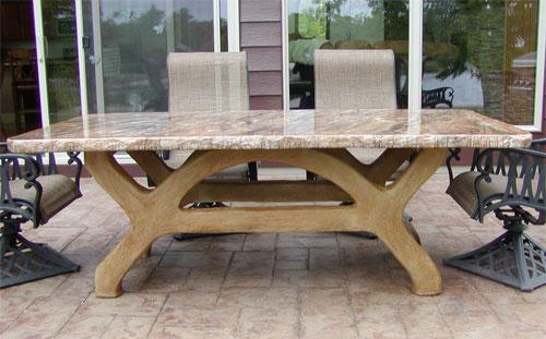 Square Concrete Table